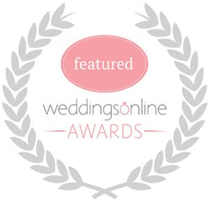 Featured on Weddings Online Awards